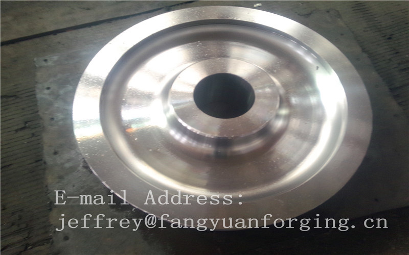 4140 42CrMo4 SCM440 Alloy Steel Rail Forged Wheel Blanks Quenching And Tempering Finish Machining Mine Industry